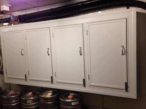Keg room drinks cabinet